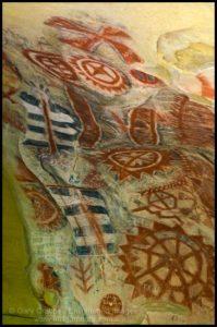 Native American Cachuma Indian cave paintings, Painted Cave State Historic Landmark, near Santa Barbara, California