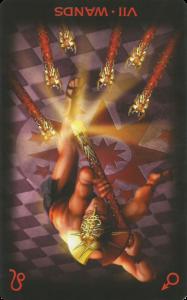 Το Επτά των Ράβδων ανεστραμμένο