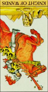 Ο Ιππότης των Ράβδων ανεστραμμένος